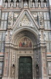Main portal of Florence cathedral Stock Image