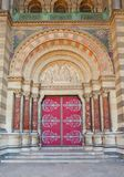 Main portal of Marseille Cathedral (XIX c.) Royalty Free Stock Image