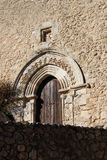 Main portal of a medieval church Royalty Free Stock Photos