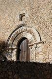 Main portal of a medieval church Royalty Free Stock Photos
