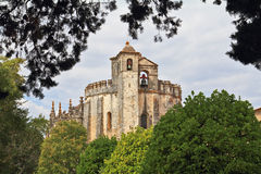The main portal of the monastery Templar Stock Image
