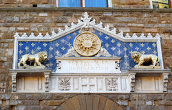 Main portal of the Palazzo Vecchio in Florence Stock Photo