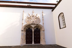 Main portal of the Saint Sebastian Igreja Matriz de Sao Sebastiao in Ponta Delgada, Sao Miguel, Azores, Portugal. Stock Photo