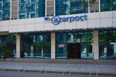 Main post office in Baku city Royalty Free Stock Photos