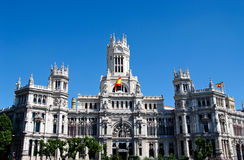 Main post-office building in Madrid Royalty Free Stock Photos