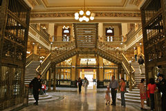 Main Post Office Mexico City. The Palacio de Correos was built at the beginning of the 20th century. Its design and construction was the most modern of the time Royalty Free Stock Images