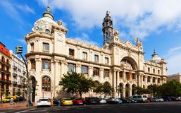 Main post office  in Valencia, Spain Royalty Free Stock Image