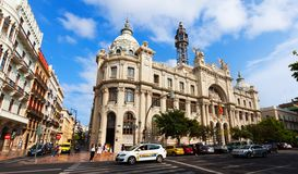 Main post office  in Valencia, Spain Royalty Free Stock Photos
