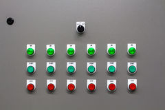 The main power and control switch system Royalty Free Stock Photos