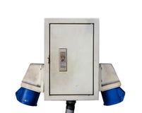 Main Power  Plug isolated blackground Stock Image