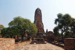Main prang of the ancient Buddhist temple. Stock Images