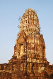 Main prang of the ancient Wat Ratchaburana. Stock Photos