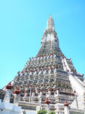 The main prang. Is  81.85 meters high  and 234 meters circular base. It is large and perfectly proportioned. It is also called Prang Wat Arun , the symbol of Royalty Free Stock Image