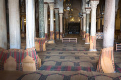 Main prayer room in The Great Mosque of Kairouan, also known as Royalty Free Stock Image