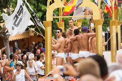 Main procession  in Gay pride parade in Sitges Stock Photo