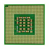 Main processor of desktop computer close-up isolated on white background Royalty Free Stock Photos
