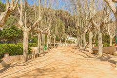 Main promenade in Calella Spain Stock Photos