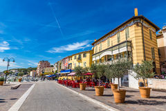 Main Promenade In The City Center Of Cassis,France Stock Images