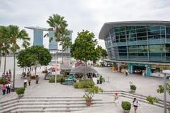 Main promenade in the heart of Singapore Royalty Free Stock Photo