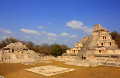 Main pyramid. Of the mayan archaeological site of edzna located near the city of campeche, in mexico royalty free stock photography