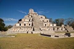 Main pyramid of Edzna Royalty Free Stock Photography