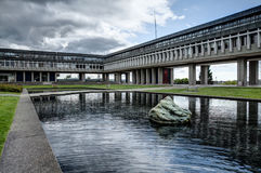 Main quadrangle, Simon Fraser University, Burnaby, BC Stock Image