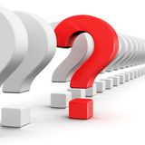Main question Royalty Free Stock Photos