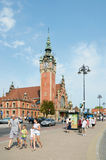 Main railroad station of Gdansk. Poland Royalty Free Stock Image