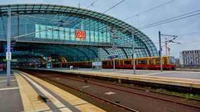 The main railway station in Berlin Stock Photo