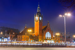 Main railway station in the city center of Gdansk Stock Images