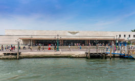 Main Railway Station Entrance in Venice Royalty Free Stock Image