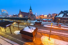 Main railway station in Gdansk, Poland Stock Photography
