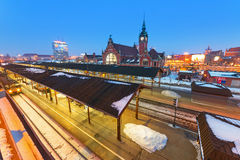 Main railway station in Gdansk, Poland Stock Images
