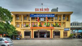 Main railway station in Hanoi, capitol of Vietnam royalty free stock photo