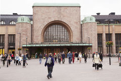 Main railway station of helsinki Royalty Free Stock Image