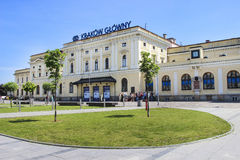The main railway station in Krakow, Poland Stock Photo