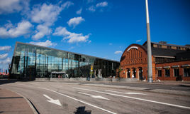 The Main railway station in Malmo. Modern railway station Royalty Free Stock Photography