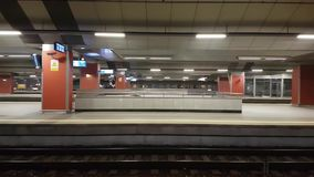 Main railway station pan left to right interior. Krakow, Poland - December 21, 2016: Main railway station pan left to right interior stock video