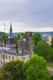 Main range of Cardiff Castle in Cardiff in Wales Royalty Free Stock Image