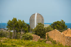Main reactor of the nuclear power plant in Vandellos, Tarragona,. Main reactor of the nuclear power plant by the sea in Vandellos, Tarragona, Spain Stock Photography