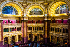 The Main Reading Room, in the Library of Congress, Washington, D Royalty Free Stock Images