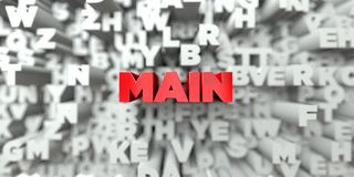 MAIN -  Red text on typography background - 3D rendered royalty free stock image Royalty Free Stock Photography