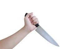 Main retenant un couteau Photographie stock libre de droits