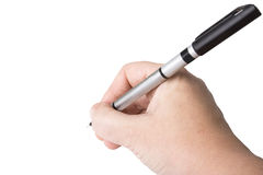 Main retenant un crayon lecteur Images stock