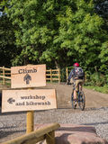 Main riding mountain bike trail Royalty Free Stock Photography