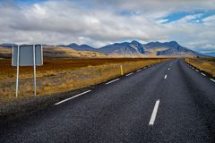 Ring road number 1 of Iceland Royalty Free Stock Photography