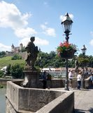 Wuerzburg on the Main River. The Main River in the Bavarian city of Wuerzburg, Germany, just below the castle Royalty Free Stock Images