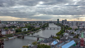 Main River in the city of Frankfurt, Germany stock footage