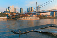 Main River at Frankfurt am Main Royalty Free Stock Images