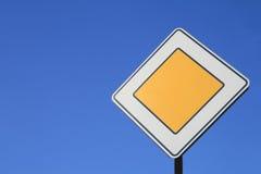 Main road. Avto sing; main road on sky Royalty Free Stock Photo